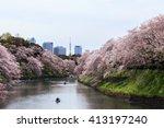 chidorigafuchi park during the... | Shutterstock . vector #413197240