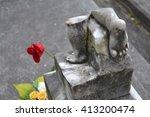 Broken Headstone On A Child's...