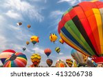 soft focused hot air balloons... | Shutterstock . vector #413206738