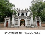 the temple of literature in... | Shutterstock . vector #413207668