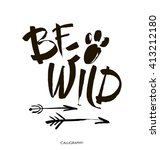 Be Wild  Card. Hand Drawn...
