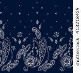 ornamental seamless paisley... | Shutterstock .eps vector #413218429