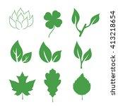 set of leaves. isolated vector... | Shutterstock .eps vector #413218654