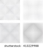 halftone dots pattern collection | Shutterstock .eps vector #413229988