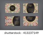 vector vintage visiting card... | Shutterstock .eps vector #413237149