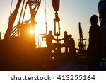 oil drilling exploration  the... | Shutterstock . vector #413255164