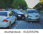 traffic accident involving two... | Shutterstock . vector #413255296