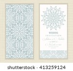wedding invitation card arabic  ... | Shutterstock .eps vector #413259124