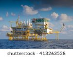 oil and gas processing platform ... | Shutterstock . vector #413263528