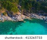 aerial view koh phangan thailand | Shutterstock . vector #413265733