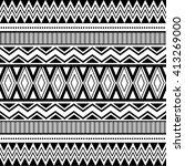 tribal seamless pattern ethnic... | Shutterstock .eps vector #413269000