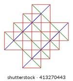 color squares diagonal pattern | Shutterstock .eps vector #413270443