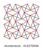 squares and diamonds pattern... | Shutterstock .eps vector #413270446