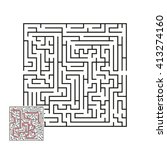 vector labyrinth 1 | Shutterstock .eps vector #413274160