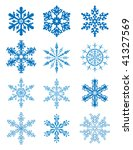 vector xmas art of 12 blue... | Shutterstock .eps vector #41327569