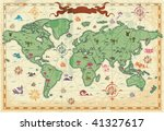 Retro Styled Map Of The World...