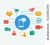 vector phone sms icon. set...