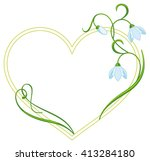 color frame with flowers.... | Shutterstock . vector #413284180