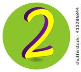 3d purple and yellow vector... | Shutterstock .eps vector #413286844