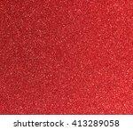 red glitter background | Shutterstock . vector #413289058