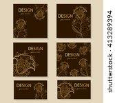 design templates business cards ... | Shutterstock .eps vector #413289394