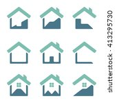 set of house vector icons. | Shutterstock .eps vector #413295730