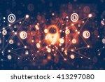 secure network concept | Shutterstock . vector #413297080
