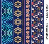 set of bohemian borders with... | Shutterstock .eps vector #413301550