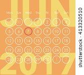 calendar for 2017. june. week...