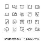 simple set of book related... | Shutterstock .eps vector #413320948