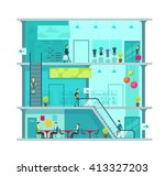 scene inside shopping mall... | Shutterstock .eps vector #413327203
