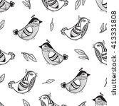 bird graphic style pattern | Shutterstock .eps vector #413331808