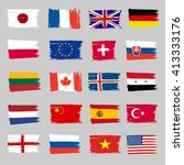 set of flags   grunge | Shutterstock .eps vector #413333176
