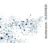 global network background  ... | Shutterstock .eps vector #413334820