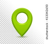 green detailed realistic 3d map ... | Shutterstock .eps vector #413342650