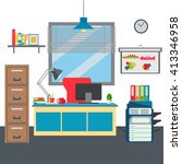 flat vector business office | Shutterstock .eps vector #413346958