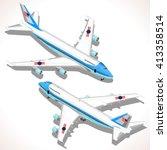 Boeing Aircraft. Flat 3d...