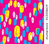 seamless pattern with colorful ... | Shutterstock .eps vector #413358619