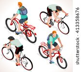 isometric vector bicycle... | Shutterstock .eps vector #413358676