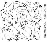 vector hand drawn grunge arrows ... | Shutterstock .eps vector #413364028