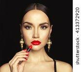 fashion studio photo of... | Shutterstock . vector #413372920