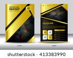 gold cover annual report... | Shutterstock .eps vector #413383990