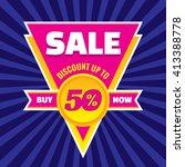 sale discount up to 50  vector... | Shutterstock .eps vector #413388778