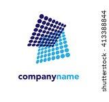 abstract vector logo design... | Shutterstock .eps vector #413388844