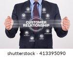 customer relationship... | Shutterstock . vector #413395090