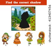 find the correct shadow ... | Shutterstock .eps vector #413407456