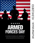 armed forces day template... | Shutterstock .eps vector #413412853