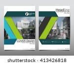 green annual report brochure...   Shutterstock .eps vector #413426818