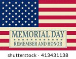 happy memorial day greeting... | Shutterstock .eps vector #413431138