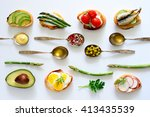 culinary background with... | Shutterstock . vector #413435539